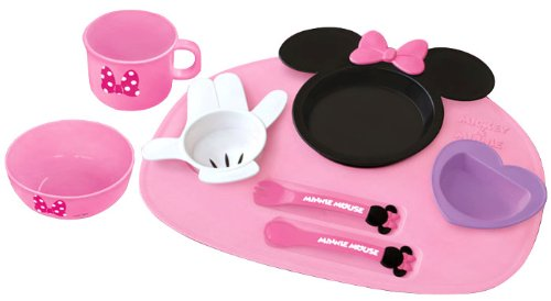 Kumho chemicals [fun food: Minnie mouse icon baby Dinnerware set