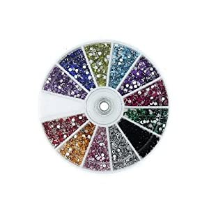 Click Here For Cheap Amazon.com: Mash Rhinestones 2400 Piece 12 Color Nail Art Nailart Manicure Wheels: Health & Personal Care For Sale