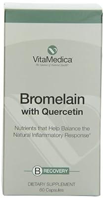 Vitamedica Bromelain wth Quercetin Nutrients with Anti-Inflammatory Properties, 60 Capsules