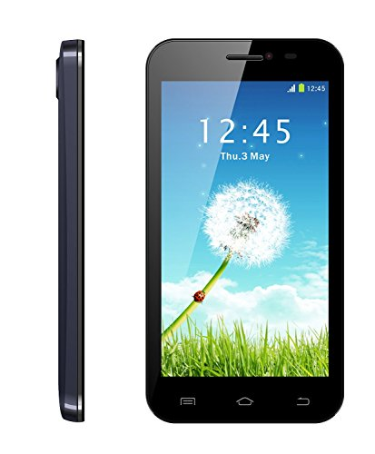 Que Products 5.0  Android Smartphone with Dual Core 1.3Ghz Processor, Cortex A7 with 5-Inch Screen - Unlocked (Black)