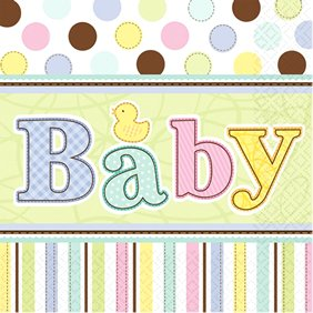 Baby Shower 'Tiny Bundle' Large Napkins (36ct)