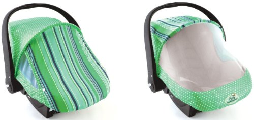 Sun & Bug Cover - Green Stripe front-61655