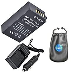 Digital Replacement Battery PLUS Mini Battery Travel Charger for Specific Digital Camera and Camcorder Models / Compatible with Nikon EN-EL20, ENEL20, 1 AW1, Nikon 1 J1, Nikon 1 J2 Charges with Intelligent Charge Technology -