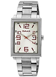 OMAX Men's Stainless Steel Casual Watch White - SS209