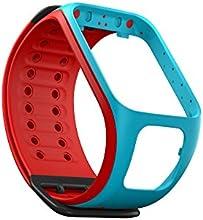 Comprar TomTom Runner 2/Correa para reloj Spark (azul claro/rojo - grande) - accesorios para registro de la actividad (Clasp, Azul, Rojo, TomTom Runner 2)