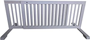 MDOG2 Free Standing Pet Gate, 57-Inch to 103-Inch by 20 inch by 21.6 inch, White