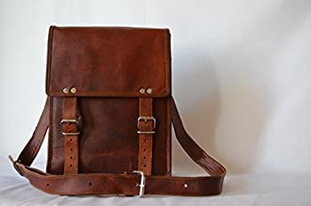 Komal's Passion leather 11 Inch Handmade Standing Ipad Leather Messenger Satchel Bag