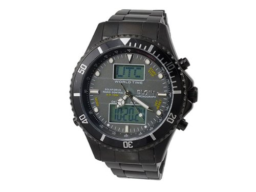 [エルジン]エルジン ELGIN 電波ソーラー ワールドタイム アナデジ 腕時計 FK1349B-BP [並行輸入品]