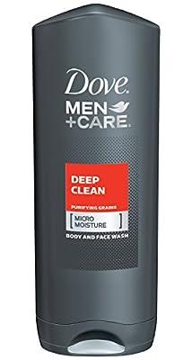 Dove Men Plus Care Body Wash, Deep Clean, 13.5 Ounce
