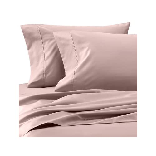 Ideal  Thread Count Egyptian Cotton pc Bed Sheet Set Queen Pink Blush Solid