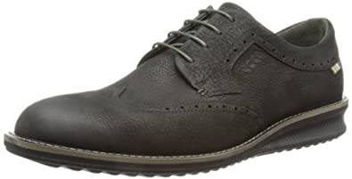 ECCO Men's Contoured Wing Tie Oxford,Black,41 EU/7-7.5 M US
