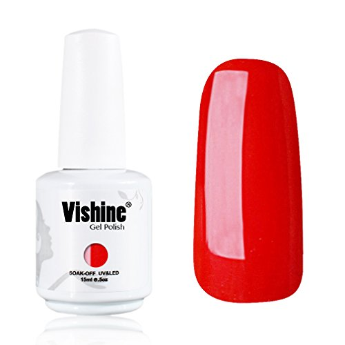 Vishine-Gelpolish-Lacquer-Shiny-Color-Soak-Off-UV-LED-Gel-Nail-Polish-Professional-Manicure-Bright-Red1535