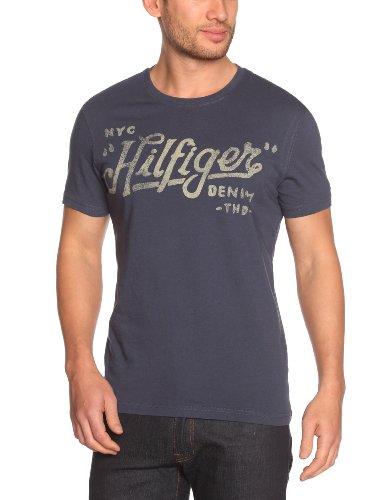 Tommy Hilfiger Federer Cn Shortsleeve 480 Logo Men's T-Shirt Mood Indigo Small