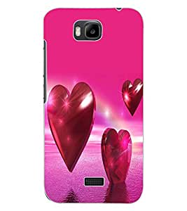 ColourCraft Love Hearts Design Back Case Cover for HUAWEI HONOR BEE