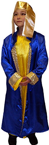 [CL COSTUMES Stage-World Book Day-Egypt-Rome-Greek-Egyptian King Herod / Pharaoh (Blue) - /Sizes (5-6] (Greek Stage Costumes)