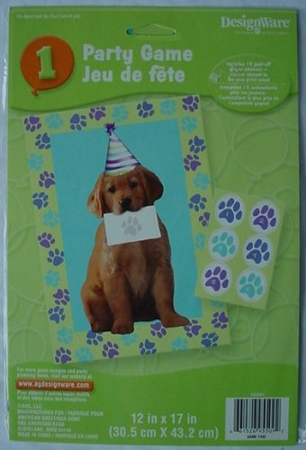 Adorable PUPPY Kids Party Game GOLDEN RETRIEVER Dog