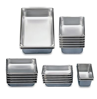 Vollrath 30042 Stainless Steel Super Pan V Steam Table Pan, Full Size, 14-Quart