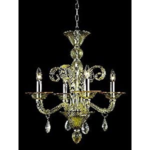 Yellow crystal lights chandelier in Home Lighting - Compare Prices