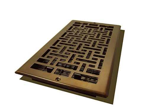 Decor Grates AJL612W-RB Oriental Wall Register, 6-Inch by 12-Inch, Rubbed Bronze (Decor Grates Floor Register 6x12 compare prices)