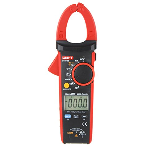 EverTrust(TM)UNI-T UT216B LCD Display 600A True RMS Digital Clamp Meters Auto Range w/ NCV V.F.C. & Frequency Tester Multimetro