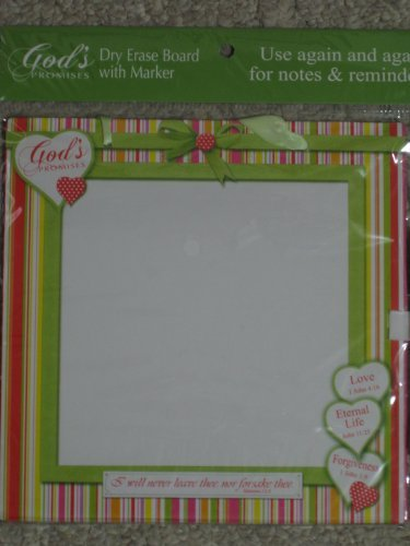 "God's Promises Dry Erase Board with Marker (8"" x 8"") - 1"