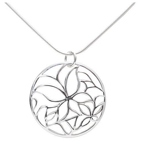 Sterling Silver Butterfly Design Pendant, 18