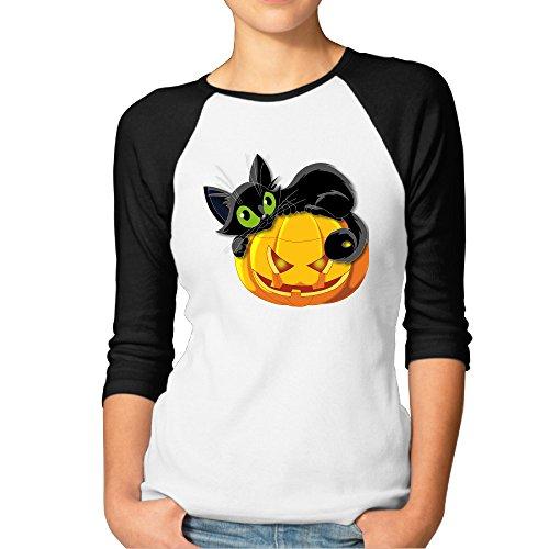 [ASCHO2 - Women's Halloween 3/4 Raglan Jersey Shirt - XX-Large] (Farmers Daughter Halloween Costume)