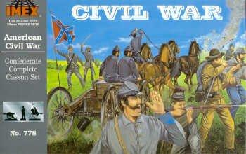 Confederate Complete Casson Civil War Set 1/32 Imex