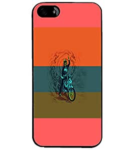 PrintDhaba Bike D-5952 Back Case Cover for APPLE IPHONE 4 (Multi-Coloured)