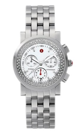 Michele Woman's MWW01C000003 Sport Sail Diamond Stainless Steel Bracelet Watch
