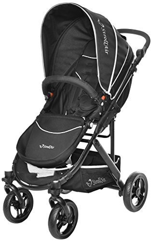 StrollAir Cosmos Single Stroller, Black - 1