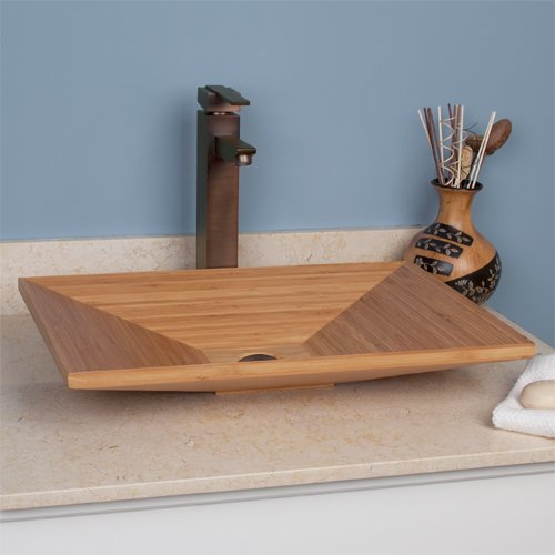 Rectangular Bamboo Vessel Sink - Bamboo