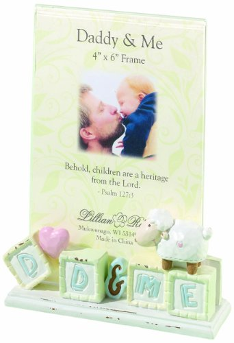 "Lillian Rose Daddy and Me Picture Frame, Little Lamb, 4"" x 6"""