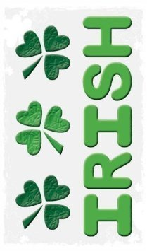 "Happy St. Patricks Day Decorations: Reusable Window Gel Clings, 6"" x 12"" - 1"