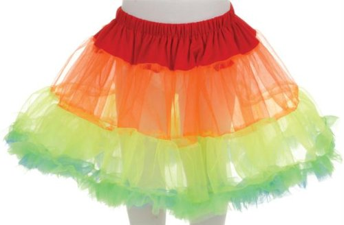 Costumes for all Occasions UR25831 Petticoat Tutu Child Rainbow