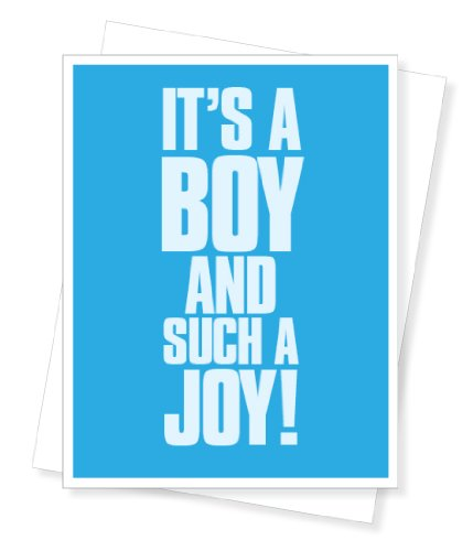 Apartment 2 Cards Boy Joy New Baby Greeting Card front-86592