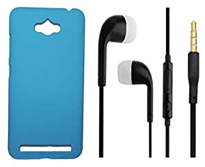 Toppings Hard Case Cover With 3.5mm Stereo Earphones For Asus Zenfone Max - Skyblue