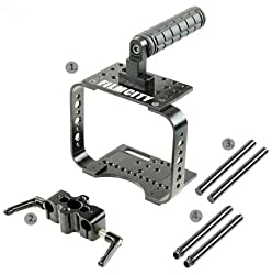 Filmcity Sleek Camera Cage (FC-SC) 15mm rail rod support for Blackmagic Cinema Camera BMCC