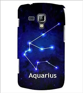 PrintDhaba Zodiac Aquarius D-3253 Back Case Cover for SAMSUNG GALAXY S DUOS S7562 (Multi-Coloured)