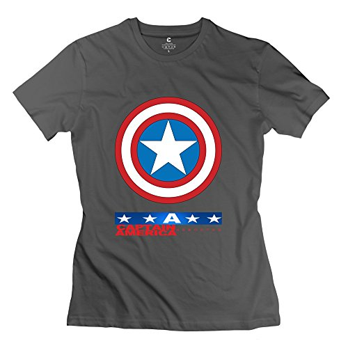Design Women's Tee Cool Captain America DeepHeather