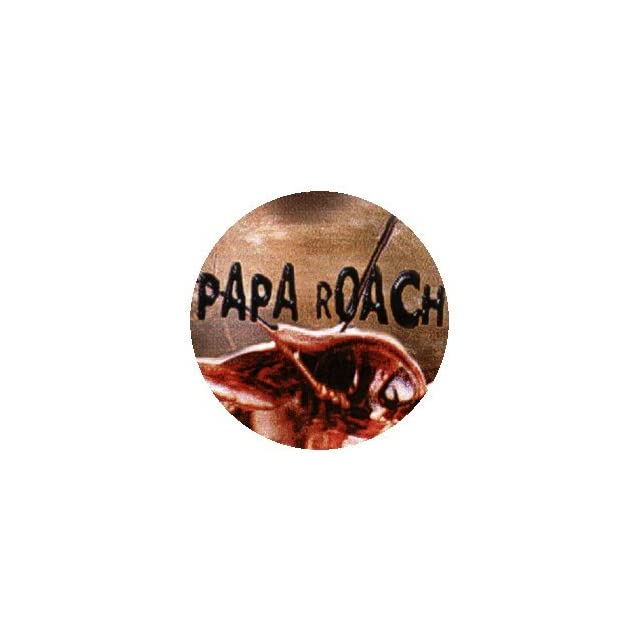 Papa Roach   Roach with Logo Above   1 1/4 Button / Pin