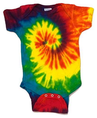 Colortone Infant Creeper Tie Dye (Spiral Rainbow) (24)