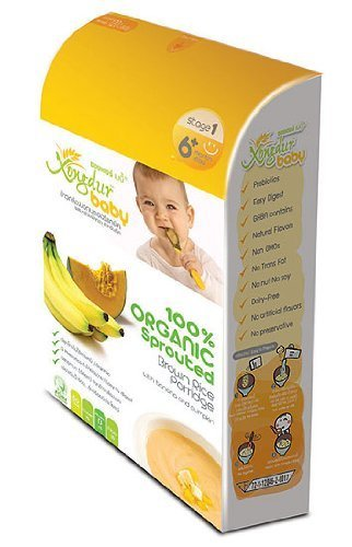 Infant Rice Cereal Organic Meal With Banana And Pumpkin Powder With High Nutritional Value, Xongdur 20 G.(0.70 Oz.) * 6 Sachets. front-508545