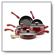 Paula Deen 12512 15-Piece Porcelain Cookware Set