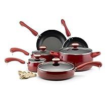 Paula Deen 12512 15-Piece Porcelain Cookware Set