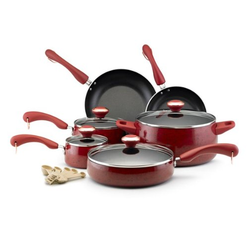 Paula Deen Signature Nonstick 15-Piece Porcelain Cookware Set Via Amazon