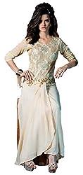 Viva N Diva Women's Cream Color Women's Georgette Kurti.