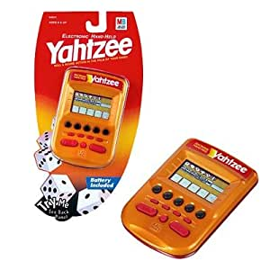 Amazon Com Yahtzee Electronic Hand Held Gold Toys Amp Games