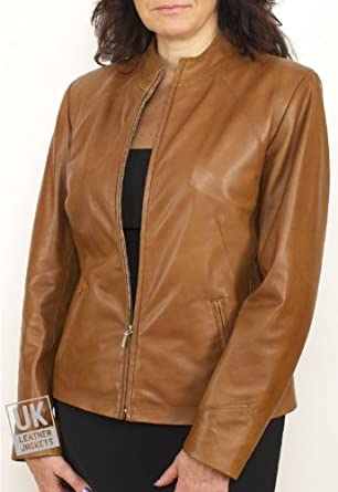 Light Brown Leather Jacket Women