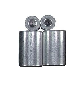 Lehigh 7333-12 3/16-Inch Aluminum Ferrule and Stop Set, Zinc Coated